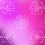 Spring pink and purple seamless pattern of beautiful flowers Stock Photos