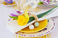 Spring place setting Stock Photography