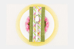 Spring place setting overview Stock Photography
