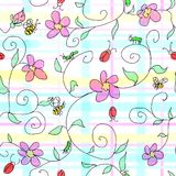 Spring plaid. To use as a background. This is a repeat pattern Stock Images