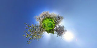 Spring planet Royalty Free Stock Photo