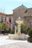 Spring in Plaza Mayor de Osuna, Spain Royalty Free Stock Photos