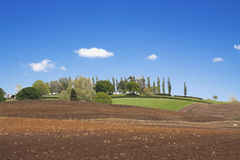 Spring  ploughed field landscape Royalty Free Stock Image