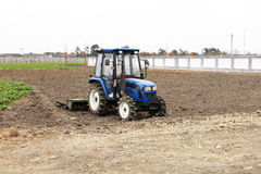 Spring ploughing tractor Royalty Free Stock Images