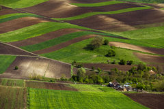Spring plowing land near a house. Spring plowing land near a house Stock Image