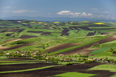 Spring plowing land. Spring plowing land near a village Stock Photography