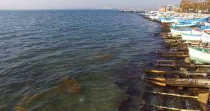 Spring, Pomorie, the Black Sea in Bulgaria stock video footage