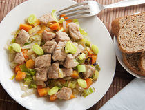 Spring Pork With Vegetable Royalty Free Stock Image