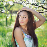 Spring portrait of asian woman Royalty Free Stock Images