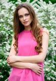 Spring portrait of beautiful romantic girl Royalty Free Stock Photo