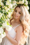 Spring portrait of a beautiful woman. Royalty Free Stock Photography