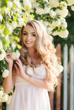 Spring portrait of a beautiful woman. Royalty Free Stock Images