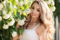 Spring portrait of a beautiful woman. Royalty Free Stock Photo