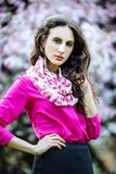 Spring portrait of a beautiful young woman Royalty Free Stock Photo