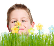 Spring portrait of cute boy Stock Photography