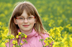Spring portrait girl Stock Images