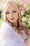 Spring Portrait With Kerchief Stock Images