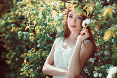 Spring portrait of a young woman Royalty Free Stock Photo