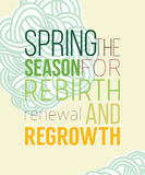 Spring poster for recovery of strength and energy Stock Photo