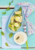 Spring potato salad with eggs Royalty Free Stock Image