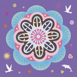 Spring power floral mandala Stock Images