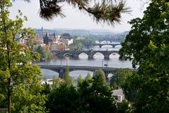 Spring in Prague. Spring view on Prague bridges and vltava river Royalty Free Stock Photography