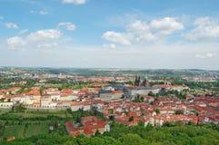 Spring in Prague. Czech republic. Beroun Hill. European city Prague in spring, tourism, sight seeing Stock Photos