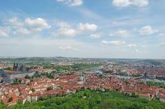 Spring in Prague. Czech republic. Beroun Hill. European city Prague in spring, tourism, sight seeing Royalty Free Stock Photography