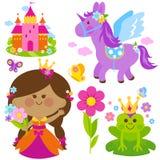 Spring Princess fairytale set Royalty Free Stock Image
