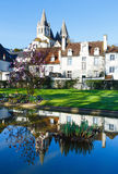 The spring public park in Loches town (France) Royalty Free Stock Photo