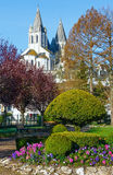 The spring public park in Loches town (France) Royalty Free Stock Photography