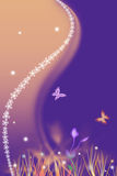 Spring purple background with flowers. Beautiful spring purple background with flowers Vector Illustration