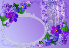 Spring purple card Stock Image