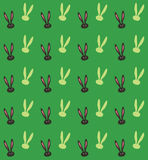 Rabbit Print. Rabbit Spring holiday seamless pattern. Green and black color, Vector Illustration. Retro style. For Art, Print, Scrapbook, Fashion, Web design Royalty Free Stock Image