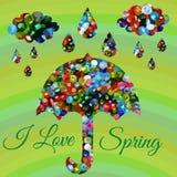 Spring rain composition Royalty Free Stock Photo