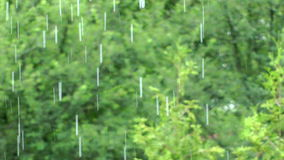 Spring rain. A good weather to stay in the house stock video footage