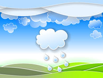 Spring rain Royalty Free Stock Images