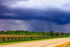 Spring Rain Landscape Illinois Royalty Free Stock Photo