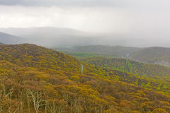 Spring Rain Storm Moving into the Mountains Stock Images