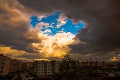 Spring, rainy clouds Stock Image
