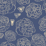 Spring Rampage seamless  patter. Beautiful romantic peony  for textile, scrapbook paper, stationary or web Stock Image