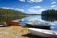 Spring recreation in Sweden Royalty Free Stock Photo