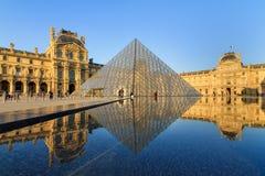 Spring reflection Louvre Stock Photos