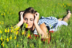 Spring relaxatioan Stock Images