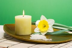 Spring relaxation spa set Royalty Free Stock Images