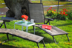 Spring Relaxation Station Stock Photography
