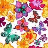 Spring repeating floral pattern Royalty Free Stock Photos