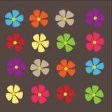 Retro flowers. Spring retro flowers on Background, Vector Royalty Free Stock Photos