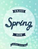 Spring retro poster, enjoy now Stock Photos