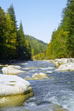 Spring river. Spring  photo of mountain river Stock Photos
